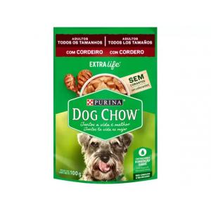 3 Unidades Ração Úmida Dog Chow Extralife Cordeiro 100g