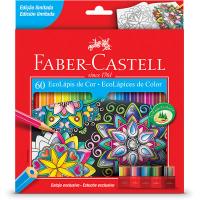 Lápis de Cor 60 cores sextavado 120160G Faber Castell -