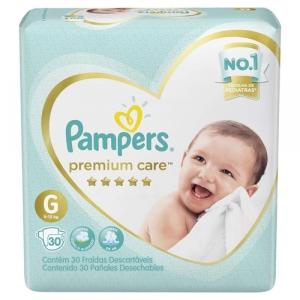 2 Pacotes - Fralda Pampers Premium Care G - 30 Unidades