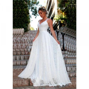 Vestido De Noiva Casamento Praia Civil Religioso Rendad
